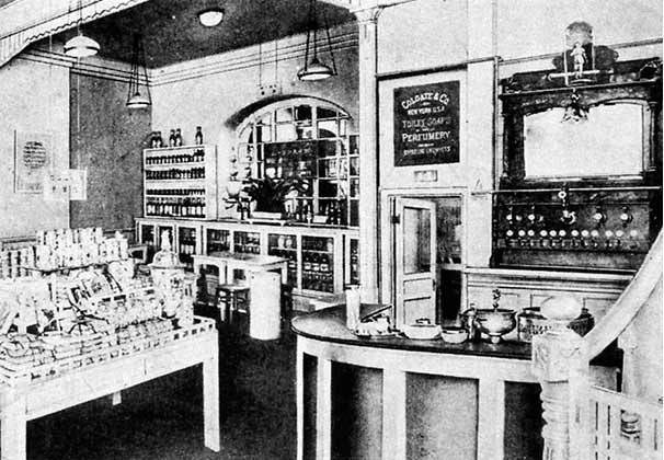 Interior of the Shiseido Pharmacy in 1902